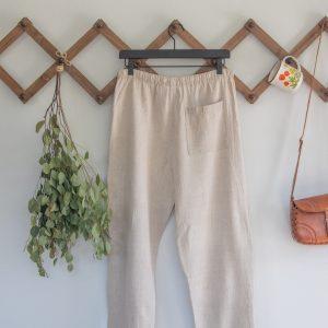 Vintage Natural Linen Pants