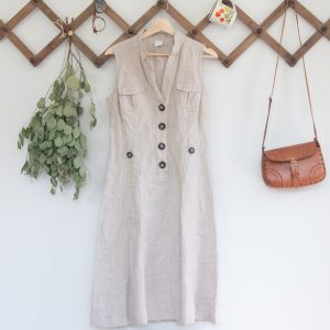 vintage sleeveless linen dress