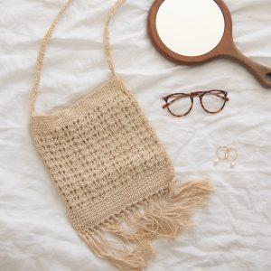 Vintage Handmade Crochet Bag